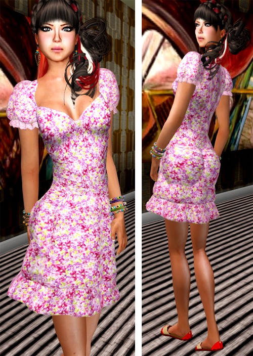 NEW! SHIKI-floral dress SPRING FEVER