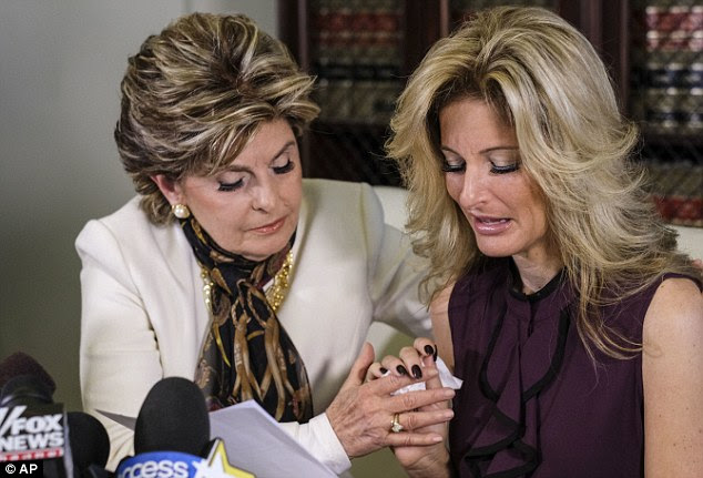 Against her will: Former Apprentice contestant Summer Zervos (above with lawyer Gloria Allred) has come forward claiming she was sexually assaulted by Donald Trump in his hotel room