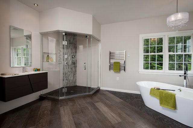 Master bath in Potomac - Contemporary - Bathroom - dc ...