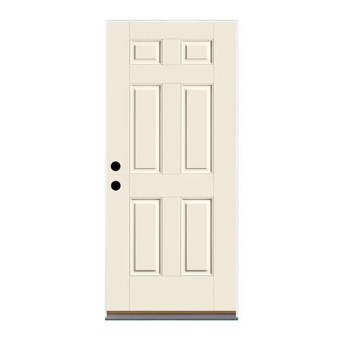 Therma Tru Benchmark Doors 36 In X 80 In Fiberglass Right Hand Inswing Ready To Paint Unfinished Prehung Single Front Door In The Front Doors Department At Lowes Com