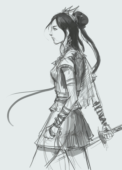 how to draw, painting, comics,anime, manga, woman, female,princess, assasin, tutorial.
