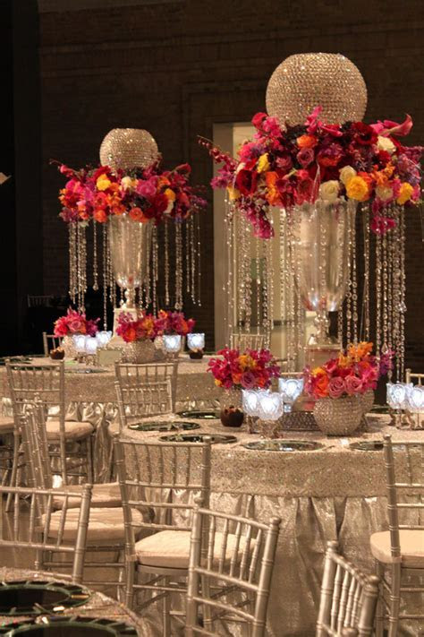 unique glamorous centerpiece   Weddings   Wedding