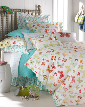 Matouk Butterfly Bed Linens Twin Sheet Set - traditional - kids ...