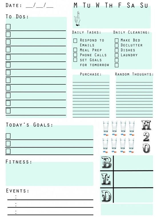 To-Do-List: This printable was great to plan my days and keep ...