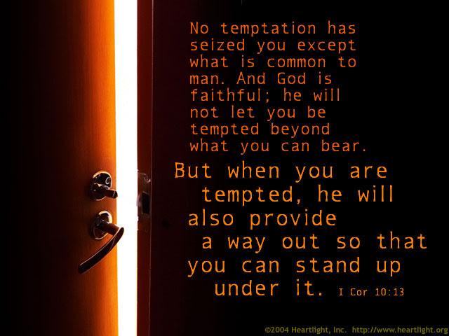 Inspirational illustration of 1 Corinthians 10:13