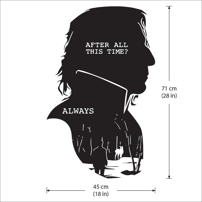 Severus Snape Harry Potter After All This Time Always Wandaufkleber Wandtattoo