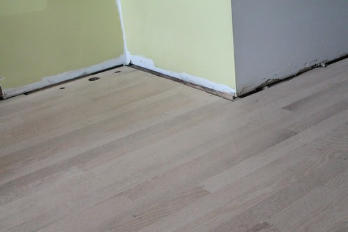 Floors are sanded and ready for stain.