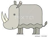 動物 - 犀・サイ・草食動物・大型哺乳類・アフリカの動物