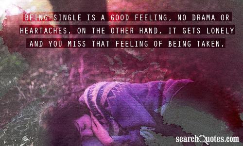 Being Single Is A Good Feeling On The Other Hand Emilio Cogliani