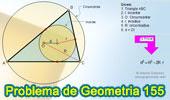 Problema de Geometría 155 (ESL): Triangulo, Distancia del Incentro al Circuncentro en función del Inradio y Circunradio.