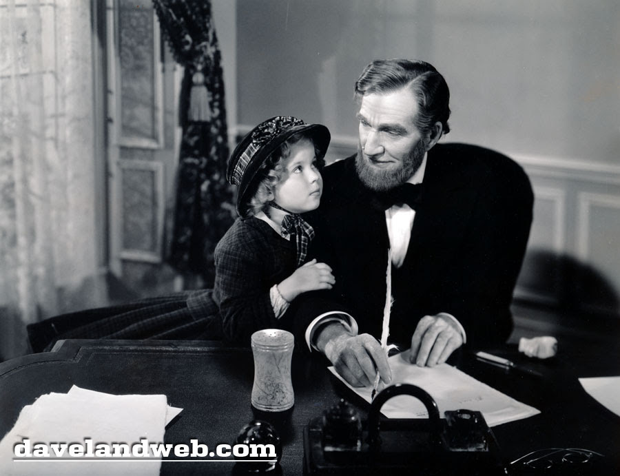 Shirley Temple 1935 Littlest Rebel photo with Abraham Lincoln