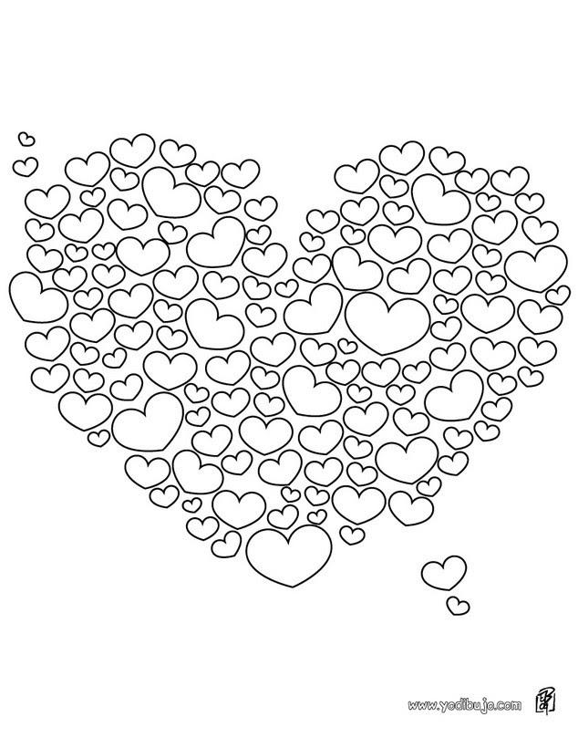 Dibujos Para Colorear El Corazón Eshellokidscom