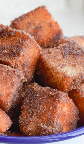 Angel food cake churro bites   Recipe   Churro bites