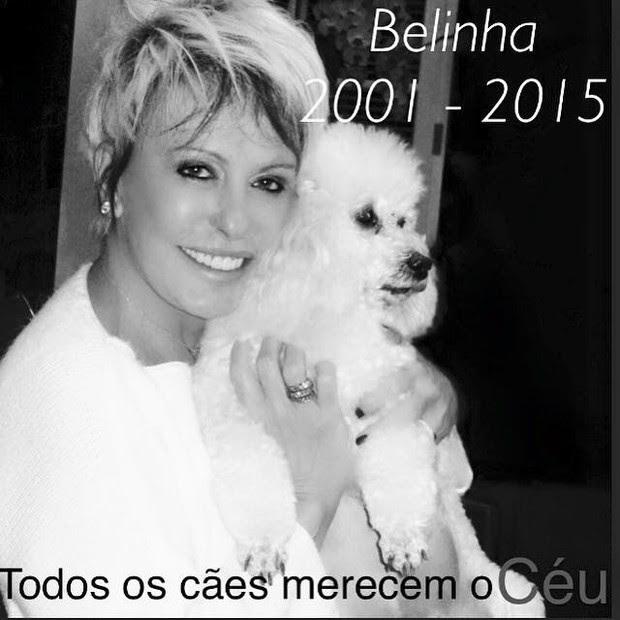 Ana Maria comunica o falecimento de Belinha (Foto: Arquivo Pessoal)