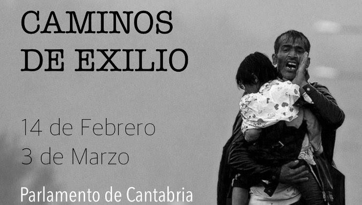 La exposición 'Caminos de exilio' estará en el Parlamento de Cantabria hasta el 3 de marzo