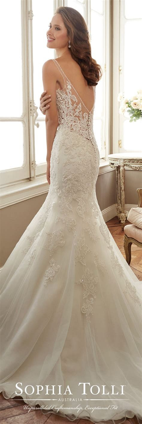 Sleeveless Tulle Fit & Flare Wedding Gown   Sophia Tolli