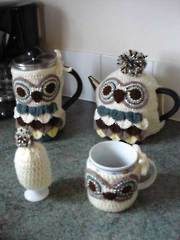 Owl Coffee & Tea Cozies - Electronic Download