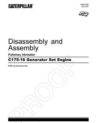 Caterpillar C175 engine specs, bolt torques, manuals