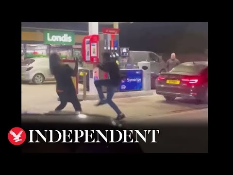 UK Fuel Scarcity: Customers Fight In Fuel Station