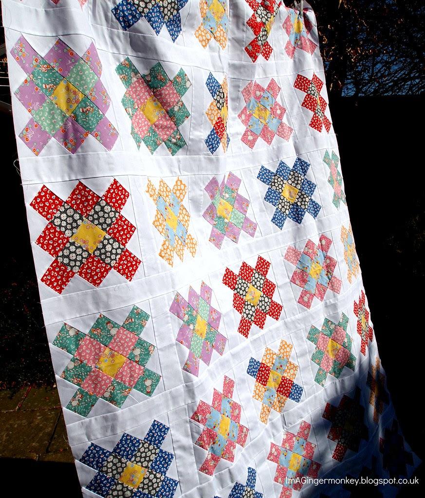 granny square quilt top