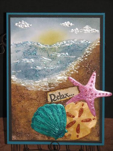 Relax - Summer Stickles Card