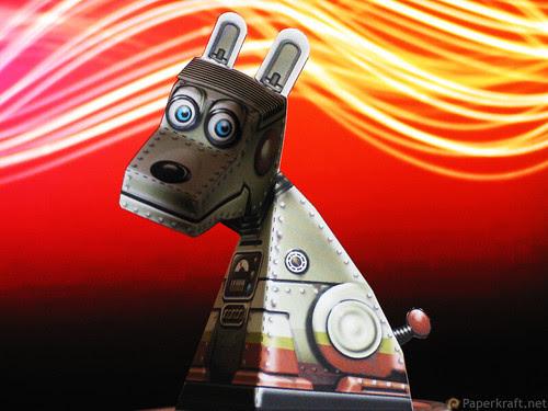 Super Robot Dog Paper Illusion 01