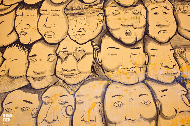 RUN aka Giacomo Bufarini's Street Art Mural in Clapton, London. Photo ©Mark Rigney