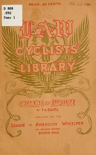 Cover, Cycling in Europe (book, 1899)