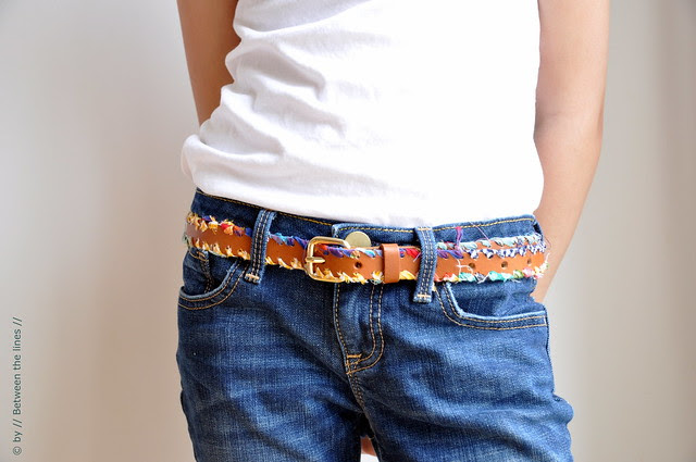 Bohemian style belt :: a tutorial