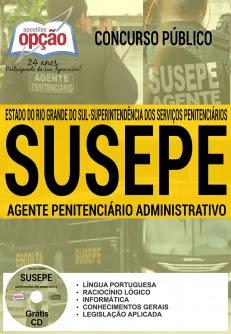 Concurso SUSEPE 2017-AGENTE PENITENCIÁRIO ADMINISTRATIVO-AGENTE PENITENCIÁRIO (MASCULINO/FEMININO)
