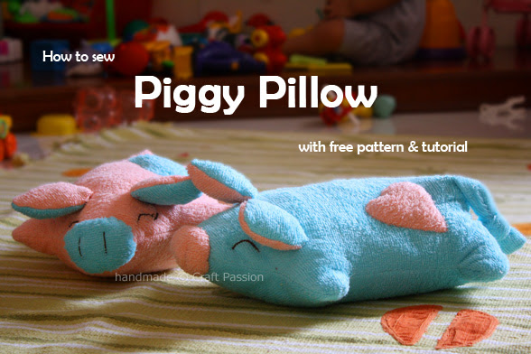 Learn to sew Piggy Pillow