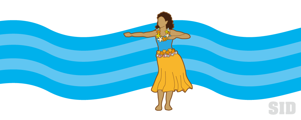 フラダンスを踊る女性のイラスト 無料イラストのimt 商用ok加工ok