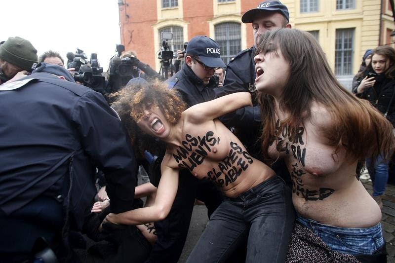 Resultado de imagen de feministas ukranianas fem