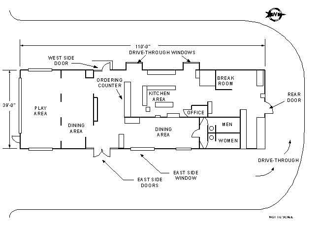 Simple restaurant layout