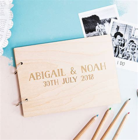 personalised wedding wishes guest book by clouds and