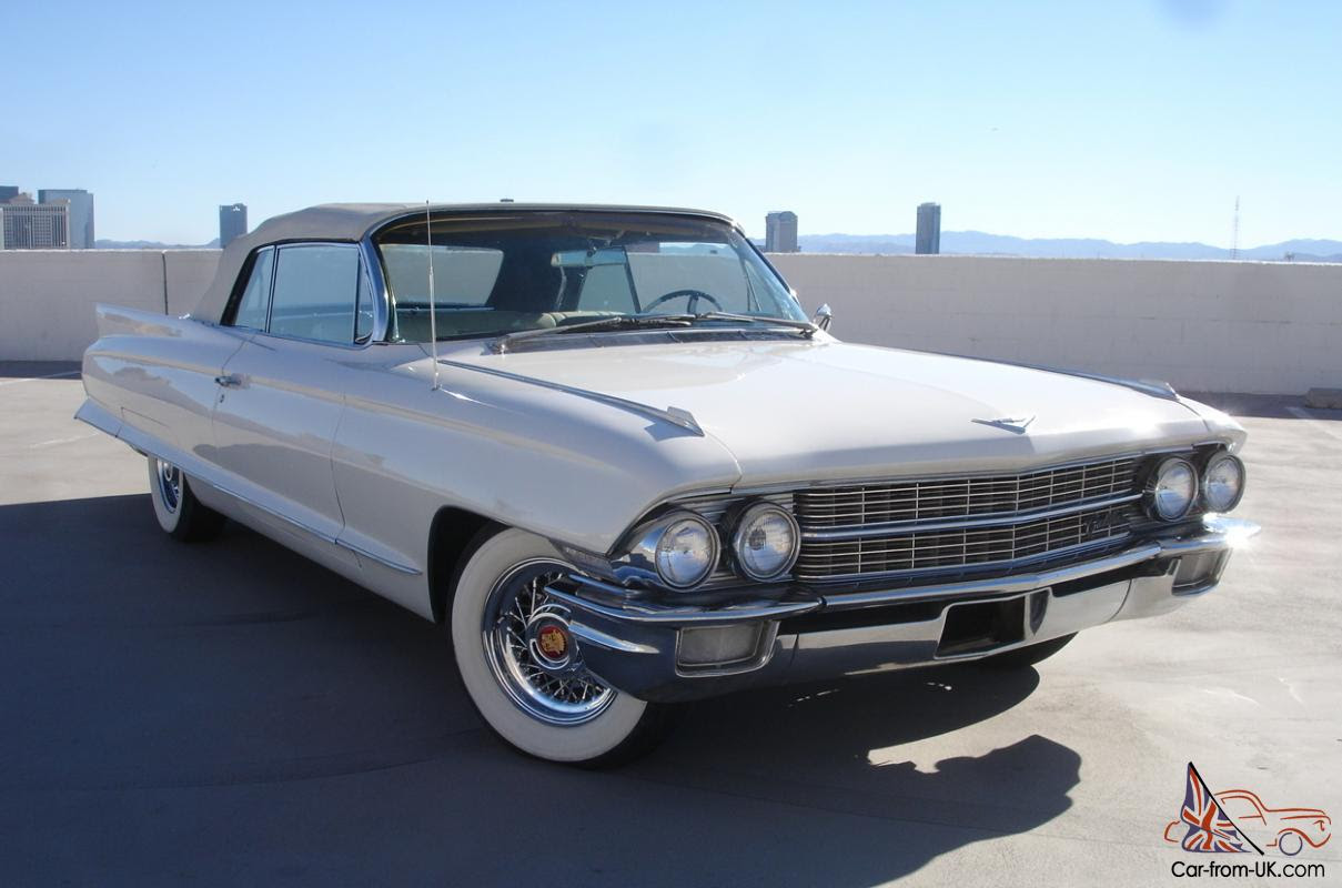 1962 CADILLAC DEVILLE 62 SERIES CONVERTIBLE V-8 LOADED ...