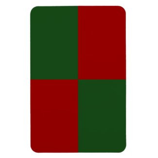 Red and Green Rectangles Rectangular Photo Magnet