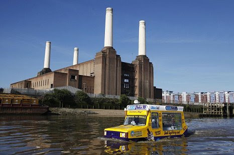 Battersea Power Station amphibious ice cream van