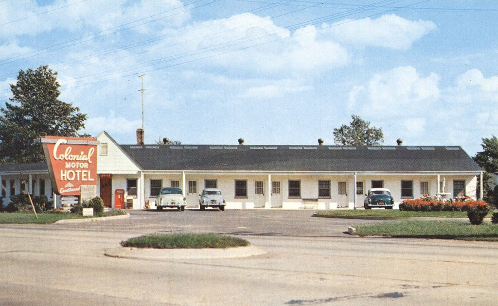 The cardboard america motel archive colonial motor hotel for Smith motor company nj