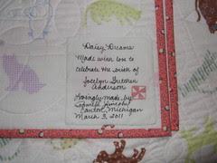 Label for Jocelyn's Quilt 02
