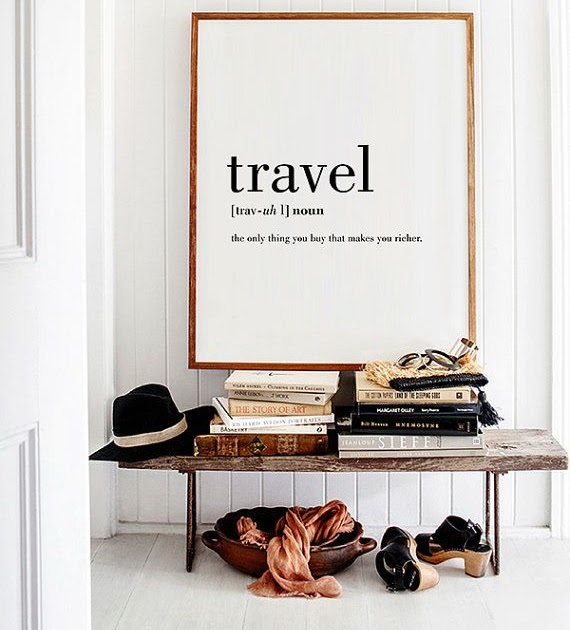 Interior Design Stories Travel Definition Printable Travel Quote Word Poster Travel Word Art