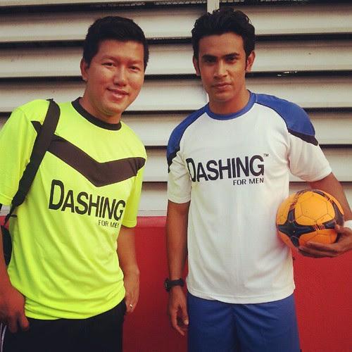 Me & Remy Ishak yg skrg dah tak sabar nak berlawan futsal neon.  Korang rasa team mana yg akan menang?