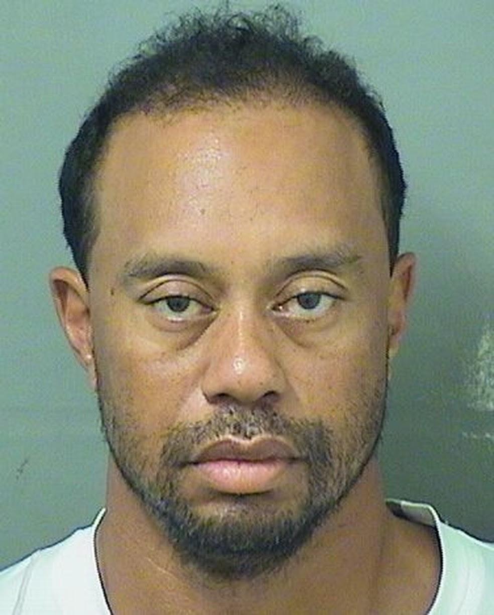 Tiger Woods prisão (Foto: Reprodução)