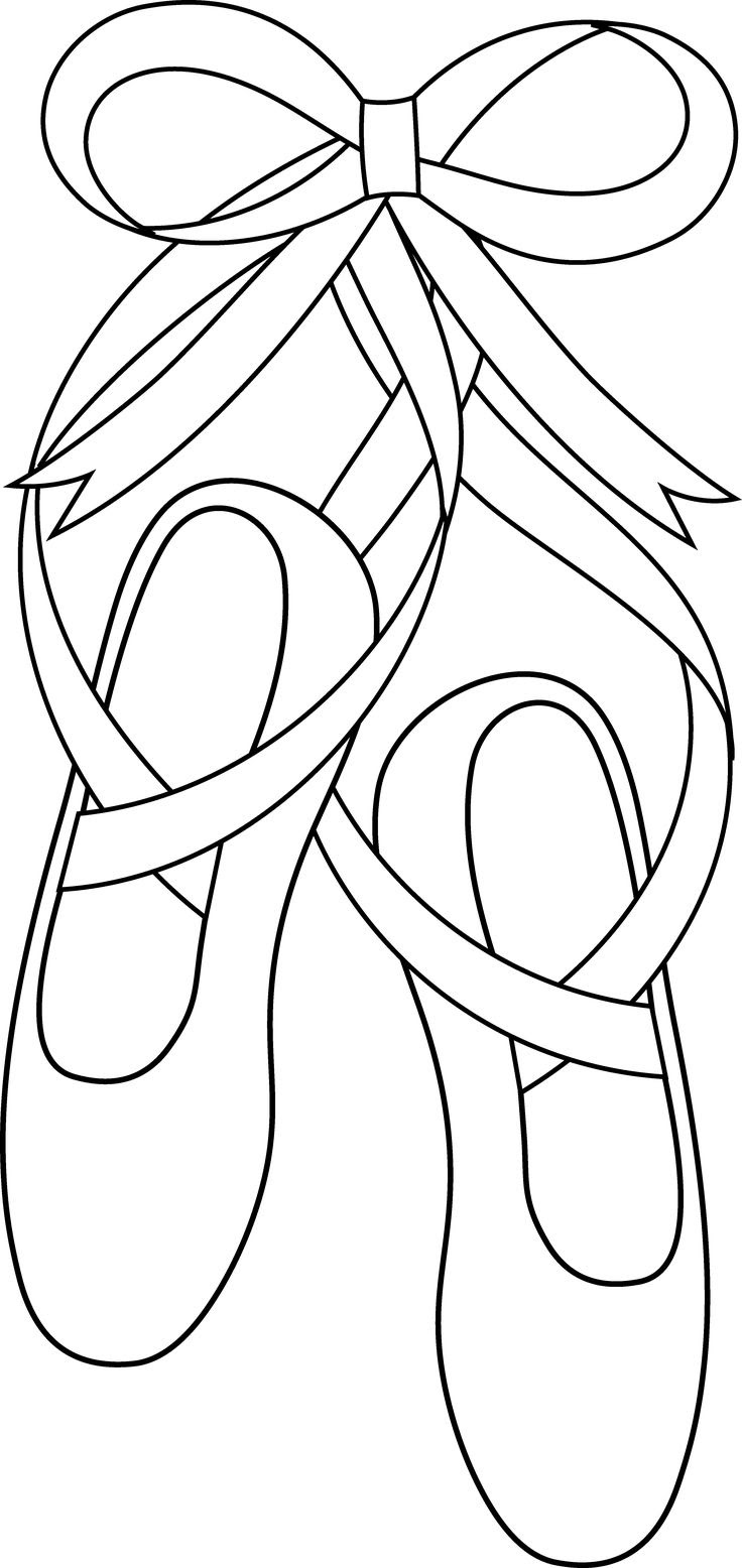 34 Ballet Shoe Coloring Pages Free Printable Coloring Pages