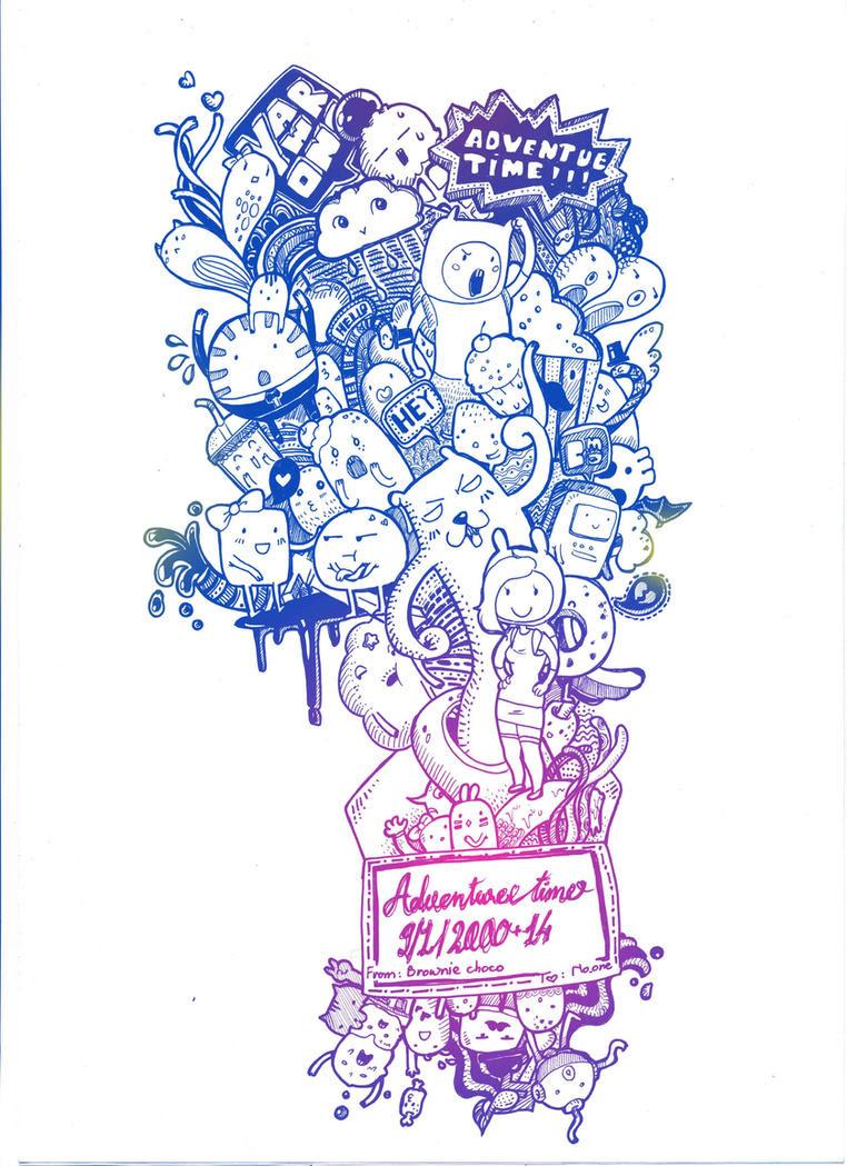 Adventure Time Doodle Wallpaper