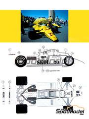 This Way Up: Maqueta de coche escala 1/43 - Fittipaldi F7 Skol Nº 20 - Emerson Fittipaldi (BR) - Gran Premio de Monaco, Gran Premio de USA West Long Beach 1980 - maqueta de metal