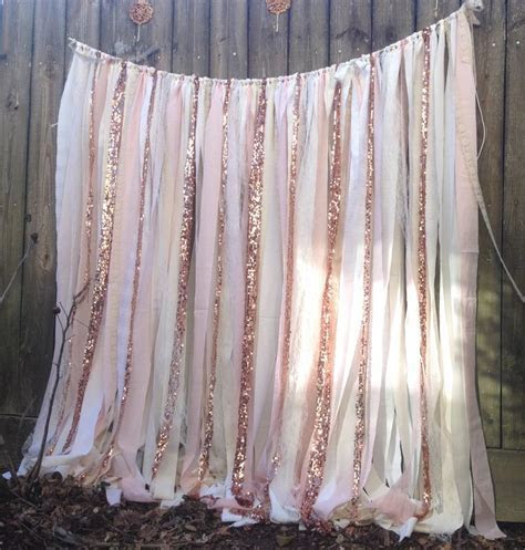 Rose Quartz Garland Rose Gold Wedding Backdrop long Blush