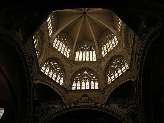 Valencia, székesegyház gótikus kupolája