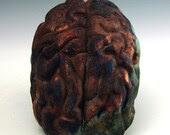 raku brain, copper sand