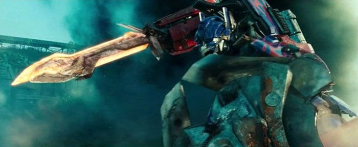 Optimus Prime gets ready to rumble in TRANSFORMERS: DARK OF THE MOON.